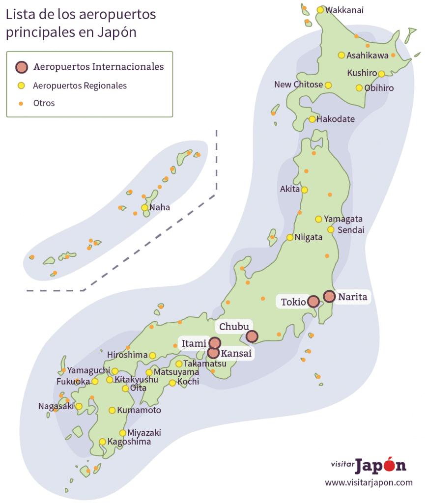 aeropuertos japon vuelos domésticos